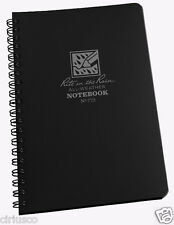 """Rite in the Rain"" All-Weather Universal 4 5/8""x7"" Side Spiral Black Notebook"