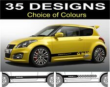 suzuki swift side stripe decals stickers graphics choice of design