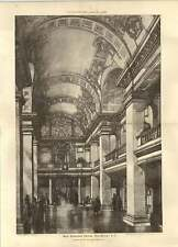1900 Great Hall Design New Sessions House Old Bailey John Belcher