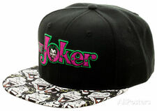 DC Comics Classic The Joker Mad Face Batman Snapback Hat Free Shipping