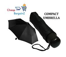 BRAND NEW UMBRELLA FOR MEN & WOMEN MINI COMPACT FOLDING BLACK COLOR WD COVER UK
