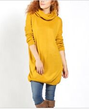 Zulily Mustard Yellow Cowl Neck Sweater Tunic XL NWOT Small Flaw READ Long Top