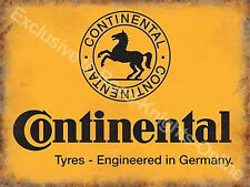 Vintage Garage Continental Tyres Motor Car Vehicle Wheel Small Metal/Tin Sign