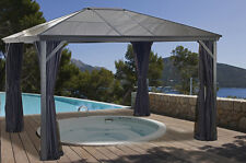 Sojag Verona Hard Top Gazebo 10x12 with Polycarbonate Roof and Mosquito Nets U.S