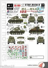 Star Decals M4  & M4A3  105mm Sherman tanks N.E Europe 1944-45  1/35 decals