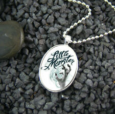 **LITTLE MONSTER** White Lady Gaga Medium Oval Silver Plated Pendant With Chain