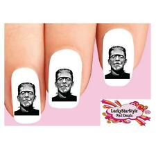 Waterslide Nail Decals Set of 20 - Halloween Frankenstein Monster