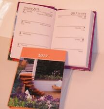 NEW Modern Garden 2017 Small Pocket Size Week To View Diary Hardback
