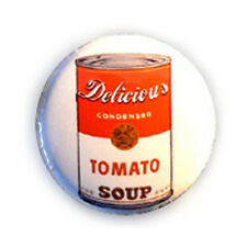 Badge DELICIOUS TOMATO SOUP yummy kawaii soupe tomate pop art culte button Ø25mm