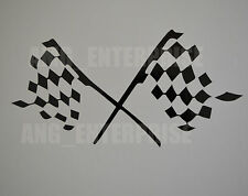 Black Chequered Flag Decal Sticker Vinyl for Renault Clio Megane Twingo Laguna