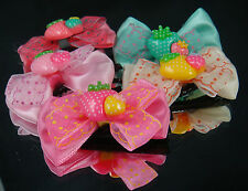 """Wholesale 5 girl baby toddler 5"""" boutique Hair Bow mixed ribbon with clips Grx3"""