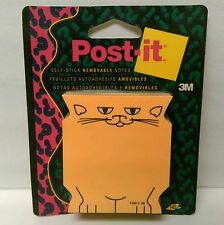 NEW vtg. 1993 Kitty Cat cat shaped 3M Post-Its Post It Notes sticky notes NIP!