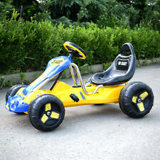 Go Kart 4 Wheel Kids Ride on Car Stealth Pedal Powered Outdoor Racer Yellow