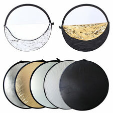 5 in 1 Handheld Portable Light Multi Collapsible Studio Photo Reflector 60cm 24""