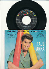 "7"" - Paul Anka - Summer's Gone / I'd Have To Share - ABC 10147 - US 1960"
