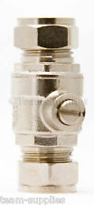 ISOLATING VALVE 22MM FULL LARGE BORE CHROME SLOTTED ISOLATION