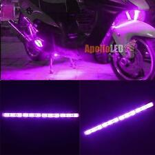 2pcs Purple 12-SMD LED Strip Light for Motorcycle Under Glow Accent Lighting