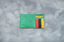 Patch Country Flag Sew On Iron On Jacket Shirt Rhodesia, Zambia Color