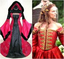 MEDIEVAL DRESS 16-18-20 L-XL-2XL WEDDING WITCH GOTHIC LARP WICCA COSTUME VAMPIRE