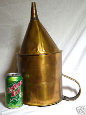 ANTIQUE VERY LARGE COPPER MOONSHINE Or STILL POURING ACCESSORY, COPPER FUNNEL