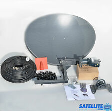 Freesat / Sky 60cm zone 1 satellite dish & quad lnb + 5m Single black coax kit
