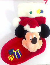 Mickey Mouse Christmas Stocking Disney Red Polyester