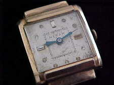 Vintage man's Everest wristwatch Stone Marker dial covered lugs case