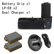 MeiKe Battery Grip for Canon 550D 600D 650D 700D as BG-E8 + 2 LP-E8 Dual charger