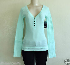 $32 Fox Racing Women's Start Up Henley Long Sleeve Shirt - Mint sz M