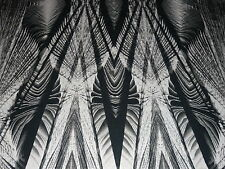 STRETCH VISCOSE JERSEY-LARGE ABSTRACT FEATHER FERN -DRESS FABRIC - 1.35 METRES