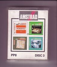 PP8 Disc 3 - (Monopoly/Cluedo/Scrabble/Scalextric) - Amstrad CPC Disk - GC