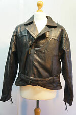 VINTAGE OUTRAGE LEATHER FLYING OR MOTORCYCLE JACKET SIZE L