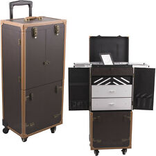 Professional 4 Wheeled Makeup Artists Cosmetics Trolley Rolling Train Case NIB