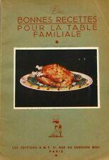 De bonnes recettes pour la table familiale - Recettes des Années 50 -