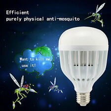 LED Anti-mosquito Bulb 18W 110V~220V Electronic Insect Fly Killer Trap Lamp