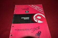 John Deere 423 Front Mounted Utility Blade Operator's Manual MISC