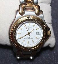 """LUCIEN BARRET""  STAINLESS SWISS WATCH VERY NICE F79-A"