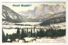 AK Altaussee im Winter, Neujahrskarte, 1903