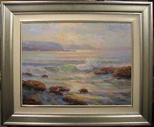 Otto Kuster Australian original oil titled 'Sea Glitter Yamba'.