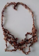 "Womens Stretchy Ribbon 9-1/2"" Necklace Choker Earthy Hippie Boho Natural Tribal"