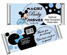 Baby Mickey Mouse Candy Bar Wrappers - Boy Baby Shower - Set/12