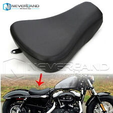 Front Driver Solo Seat Pillow For Harley Sportster 1200 883 2007-2015 Leather