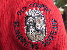 ST ANDREWS GOLF COURSE SHIRT RED SIZE MEDIUM  OLD COURSE ST ANDREWS GOLF COURSE!