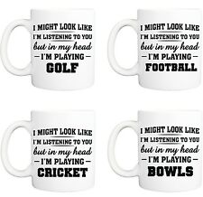 SPORT FOOTBALL GOLF MUG funny novelty tea coffee gift womens mens office ideas