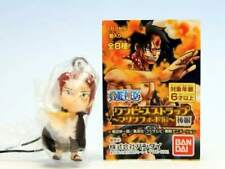 BANDAI One Piece Marineford Marine Ford 2 Phone Strap Figure Red Shanks