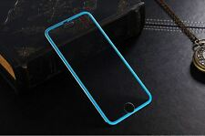 iPhone 6 Tempered Glass Screen Protector Full 3D Curved Metal Titanium - Blue