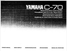 Yamaha C-70 Amplifier Owners Manual