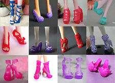 10 pairs Shoe Boot For Original Monster High Doll I Love Fashion Accessories N41