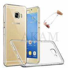 Samsung Galaxy C7 Soft Silicon Crystal Clear Gel Flexible Back Skin Case Cover