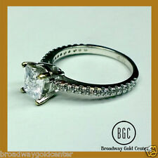 Solid 14k White Gold 2.32 Carat Princess Cut Engagement Ring ON SALE NOW!